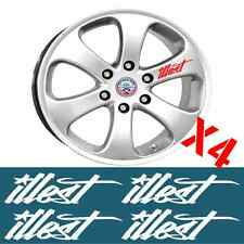 ILLEST WHEEL RIM DECAL STICKER SET X4 DETAILING JDM DRIFT WHEEL DECALS STICKERS