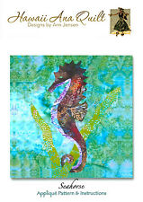 SEAHORSE Quilt Pattern Using Needle Turn Hand Applique Technique Tropical Pretty