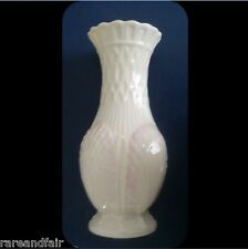 Irish Belleek vase with shell design - pink highlights FREE SHIPPING