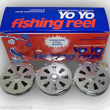 Lot of 3 - Mechanical Fishing Snare Reel Yo Yo Hunting