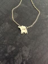 Gold Plated Tiny Baby Elephant Pendant Necklace Zoo Animal Lover Cute Charm New
