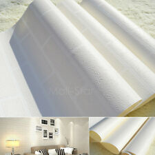 10M Home Decoration Brick Wallpapers White Grey Embossed Textured 3DPatten