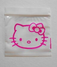 200 (Hello Kitty, Pink Cat) 2x2 Small Ziplock Baggies, 2020 Mini Poly Dime Bags
