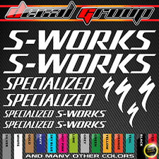 SPECIALIZED S WORKS New  MTB  Mountain Bike Frame Vinyl Decals Stickers 12pcs
