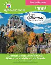 $100 Fairmont Hotels & Resorts Gift Card for $80!