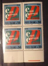 CONTI CORRENTI POSTALI - QUARTINA - 1968