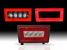 RED Rear LED Bar Cube Fog Light Brake Backup Reverse For 11-16 Subaru WRX STi