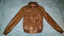 KAOS by AULUNA Lady's Brown Leathe Jacket Size: 6/8 NEW WITHOUT TAGS