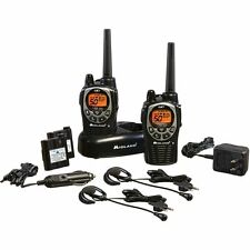 Midland 36 Mile 50 Channel GMRS Rechargeable Walkie Talkie Radio NOAA Alert GXT