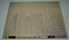 Ersatzteilkatalog auf Microfich Audi Coupe Quattro Typ 89 B3 ab Baujahr 1996!