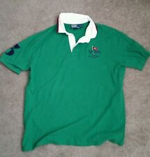 Used Mens Polo Ralph Lauren Custom Fit Cotton Short Sleeve Rugby XL.