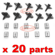 MERCEDES W124 W210 W201 190 ENGINE & GEARBOX UNDERTRAY COVER CLIPS FITTING KIT E
