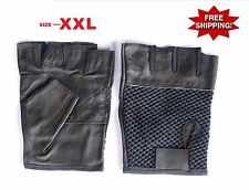 MESH-LEATHER-GLOVES- GYM-WEIGHT-TRAINING-FITNESS-POWER-LIFTING-CYCLING-WHEELCHAI