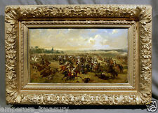 "19th Century Oil Painting French War Battlefield: ""Bataille de Gravelotte"""