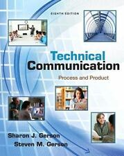 New, Technical Communication - Process & Product / Eighth Edition by Gerson