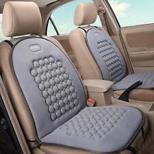 Couvre housse siege coussin massage en cuir + mousse voiture auto chaise gris