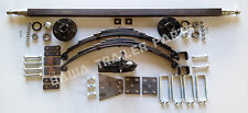 Single Axle UN-BRAKED Trailer Kit 1400kg Rating with EYE TO EYE SPRINGS 45X8MM!
