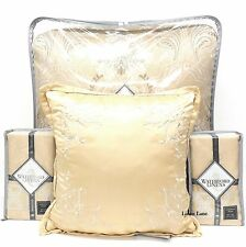 WATERFORD Copeland KING COMFORTER SET 7pc EUROS PILLOW Floral Champagne Gold NWT