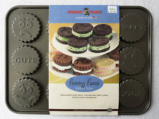 Nordic Ware Funny Faces Whoopie Pie Filled Cookie Sandwiches Tin Cast Aluminum