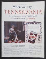 Veedol Motor Oil Pennsylvania Tide Water Oil Co 1939 Original Vintage Print Ad