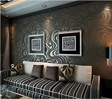 Modern Minimalist Country Luxury Stripe Wallpaper Roll Brown&Balck Living Room