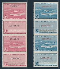 "#RVB1-RVB2 PAIRS ""BOATING STAMPS"" 1960 OG NH CV $165 BR4548"