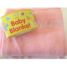 Pink Fleece Baby Pram Decke 80cm x 120cm Brandneu