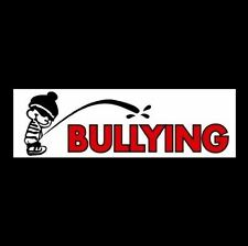 "Funny ""PEE ON BULLYING"" Anti Bully BUMPER STICKER, free zone, WNDOW DECAL, no"