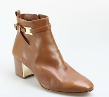 Michael Kors NEW Brown Yves Shoes 9.5M Ankle Heel Leather Boots $475- #029 DEAL