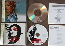 # PROMO! MADONNA Lot of 2 JAPAN CD WPCR-12421&45  w/'06 Japan Tour OBI Limited