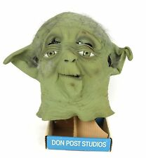 Vintage 1996 Collectible Star Wars Yoda Mask Don Post Studios With Stand