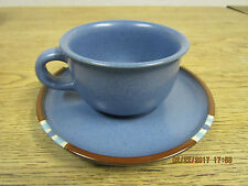 DANSK Blue Mesa Southwest Design. 2 cups & 2 saucers, sugar bowl & creamer.
