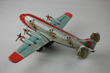 """Linemar Japan Disney Airplane 7 3/8"""" Wing Span Excellent With Wrong Wings"""