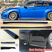 Bottom Line Style Side Skirts + Rear Aprons Fit 11-14 Impreza 4dr