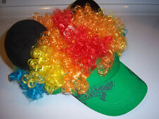 Disney Novelty Funny Crazy Muli-Color Hair Mickey Mouse Ear Hat Adult Size NEW