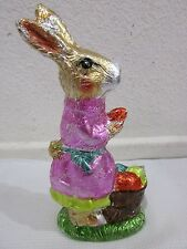 """Easter Faux Chocolate Gold Bunny Rabbit with Egg Figurine Decoration Decor 7.5"""""""