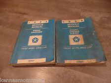 1988 Chrysler Lebaron Dodge Daytona Factory Service Manuals