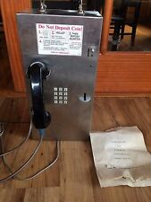 Pay Telephone Quarter Slot Rent-A-Phone W/ Keys & Manual - Works