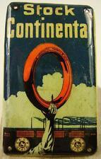 Antikes Kaufmannsladen Blech Schild Stock continental um 1930