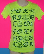 FOX RIDERS CO.NEON YELLOW JUNIORS SHIRT SIZE SMALL