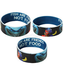 Disney FINDING NEMO Dory Bruce Fish Friends Not Food Rubber Bracelet Wristband