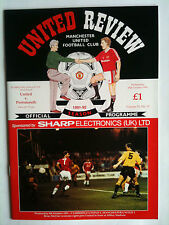 MINT 1991/92 Manchester United v Portsmouth League Cup 3rd Rd with Token