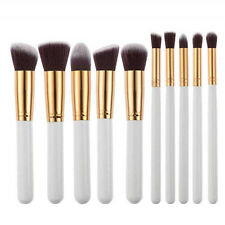 10pcs Professional Makeup Brushes Set Powder Foundation Eyeshadow Brush Tool NEW
