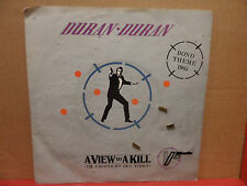 "Duran Duran - A View to a Kill 7"" 45 Single LC 0542 Picture Sleeve EEC Pressing"