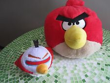 Lot of 2 Angry Birds plush toys