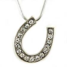 Good Luck Horseshoe Pendant Necklace Lucky Western Cowgirl Horse Shoe Charm n87