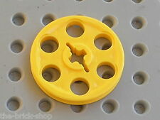 LEGO TECHNIC yellow wedge belt wheel 4185 / Set 5893 7660 8277 10026 8480 8456
