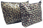 NEW LEOPARD DESIGN WASH BAG-TOILETRY-COSMETIC-TRAVEL-MAKE UP-ZIPPED TOP