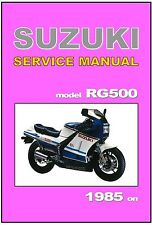 SUZUKI  Workshop Manual RG500 Gamma 1985 1986 1987 RG500F RG500G RG500H Service
