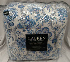 $400 Ralph Lauren Amilee Floral Blue and White 4-Piece Queen Comforter Set